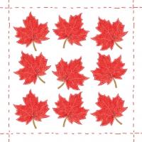 Cocktail napkins Fashion Leaf allover red *