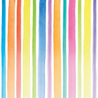 Serviettes cocktail  Aquarell Stripes