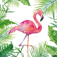 Serviettes cocktail  Tropical Flamingo