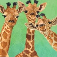 Cocktail napkins Giraffe Amigos