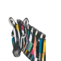 Serviettes cocktail  Regalia Zebra