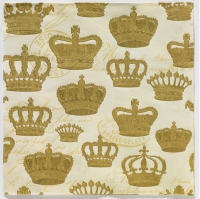 Lunch napkins Majesty Embossed creme gold