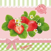 Lunch napkins Delicious Strawberries ros?