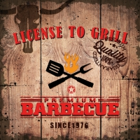 Lunch napkins License to Grill