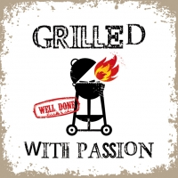 Lunch Servietten Grilled with Passion white