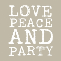 Lunch Servietten Love & Party taupe white