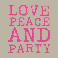 Lunch Servietten Love & Party neon pink