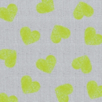 Lunch napkins Fashion Hearts neon lime