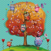 Lunch napkins Owls favorite Tree