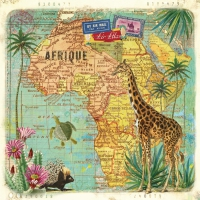Lunch napkins Travel to Africa