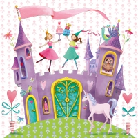 Serviettes lunch Princess Castle