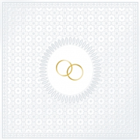 Serviettes lunch Medallion Wedding pearl
