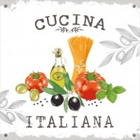 Lunch napkins Cucina Italiana white