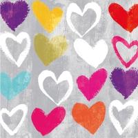 Lunch Servietten Paper Hearts