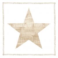 Lunch Servietten Star Fashion wood white