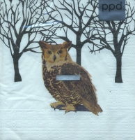 Serviettes lunch Winter Owl