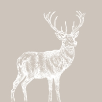 Lunch napkins Mod Deer taupe