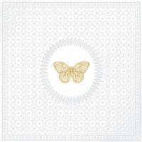 Lunch Servietten Medaillon Butterfly pearl