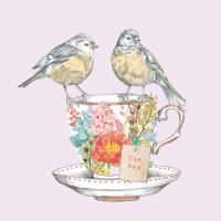 Lunch Servietten Tea for Two Birds