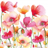Lunch Servietten Aquarell Poppies & Daisies
