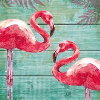 Lunch Servietten Summer Flamingos