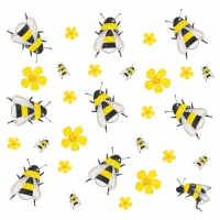 Serviettes lunch Dancing Bees