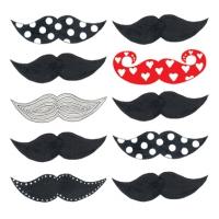 Lunch Servietten Les Moustaches
