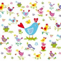 Lunch Servietten Birds & Chickens
