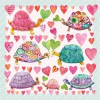 Lunch Servietten Turtles in Love