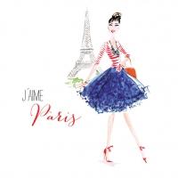Lunch napkins Paris City Girl