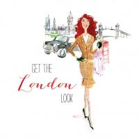Lunch Servietten London City Girl