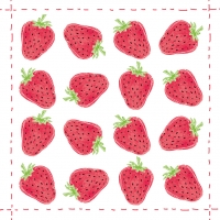 Lunch napkins Fashion Strawberry allover