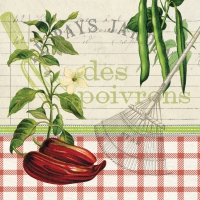 Lunch napkins Les Poivrons