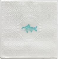 Serviettes lunch Medaillon Fish pearl aqua