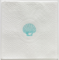 Lunch napkins Medaillon Shell pearl aqua