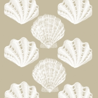 Lunch napkins Riviera Shells taupe