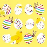 Lunch Servietten Eggs allover yellow
