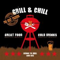 Lunch Servietten Grill & Chill black