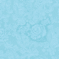 Lunch Servietten Lace embossed aqua