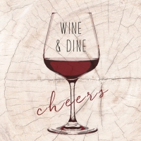 Serviettes lunch Wine & Dine red