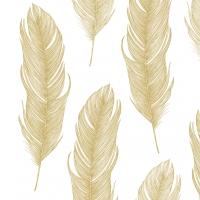 Lunch Servietten Elegant Feather gold