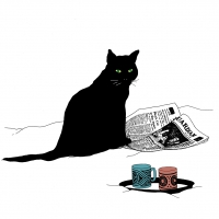 Serviettes lunch Black Cat Journal