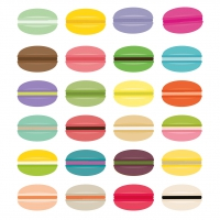 Lunch Servietten Art Deco Macarons