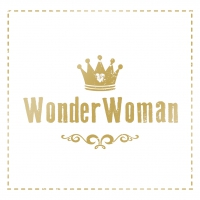 Lunch Servietten Wonder Woman gold