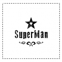 Lunch Servietten Super Man black