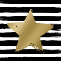 Lunch Servietten Star & Stripes black/gold