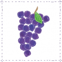 Lunch Servietten Fashion Grapes purple