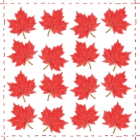 Lunch Servietten Fashion Leaf allover red