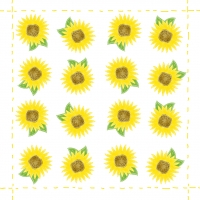 Lunch napkins Fashion Sunflower allover