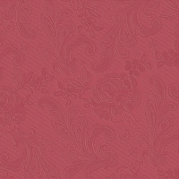 Lunch napkins Lace embossed bordeaux
